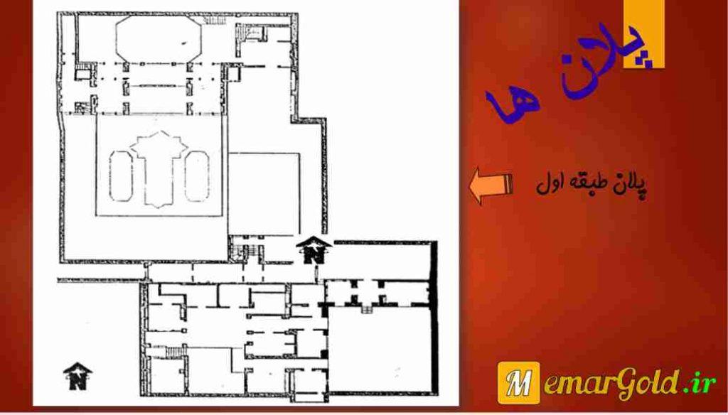 تصویر: اسلایدهای پاورپوینت - پلان طبقه اول - معمار گلد