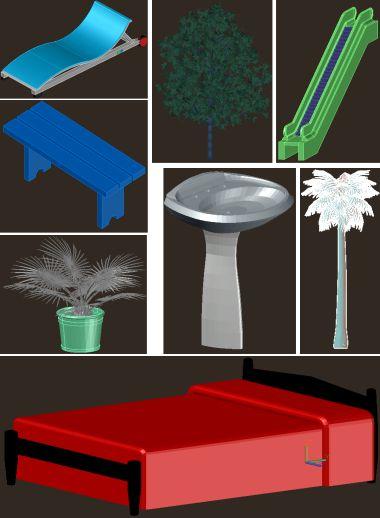 دانلود ابجکت سه بعدی اتوکد رایگان