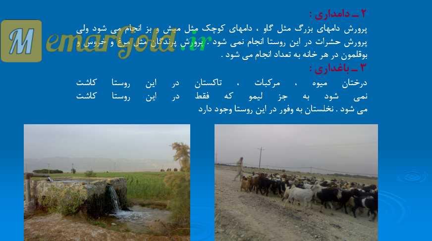 پروژه روستا استان فارس