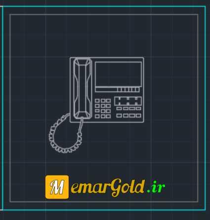 دانلود آبجکت اتوکد تلفن