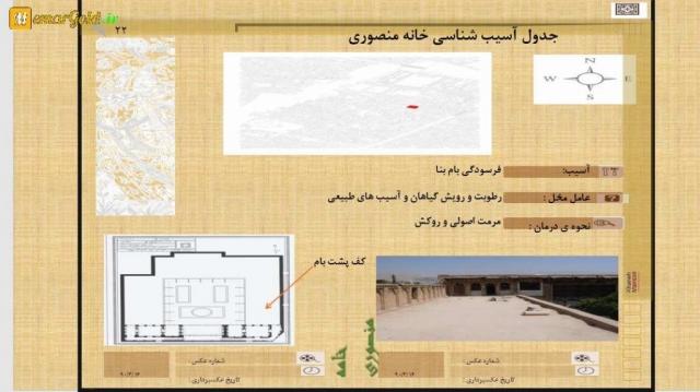 پاورپوینت مرمت خانه منصوری شیراز