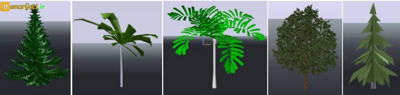 مبلمان سه بعدی درخت اتوکد