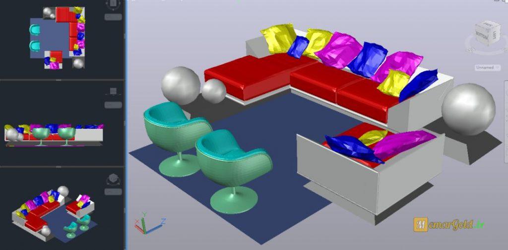 505 آبجکت سه بعدی اتوکد
