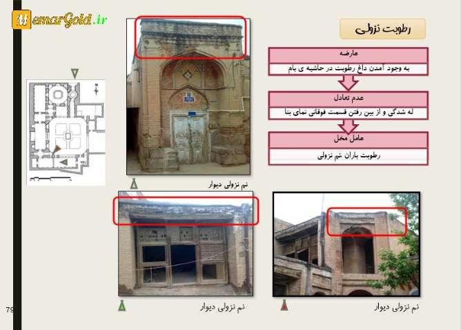 آسیب شناسی مرمتی خانه بهشتی قزوین
