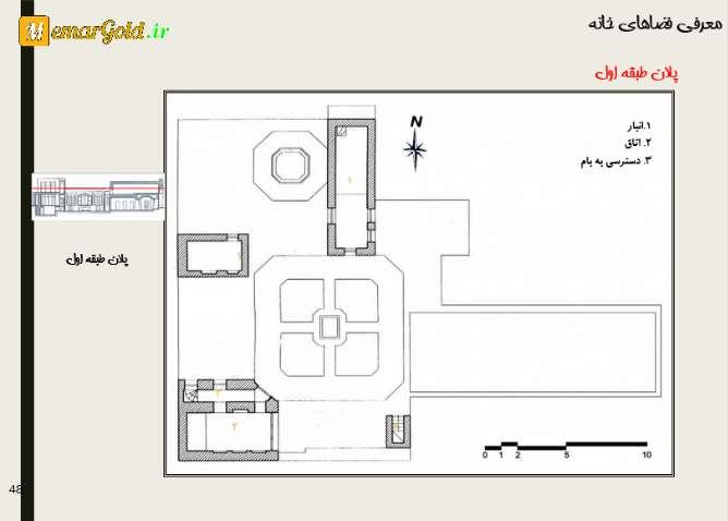پلان خانه سید محمود بهشتی قزوین