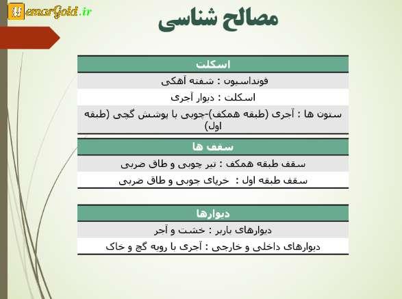 مصالح شناسی عمارت ارباب هرمز تهران
