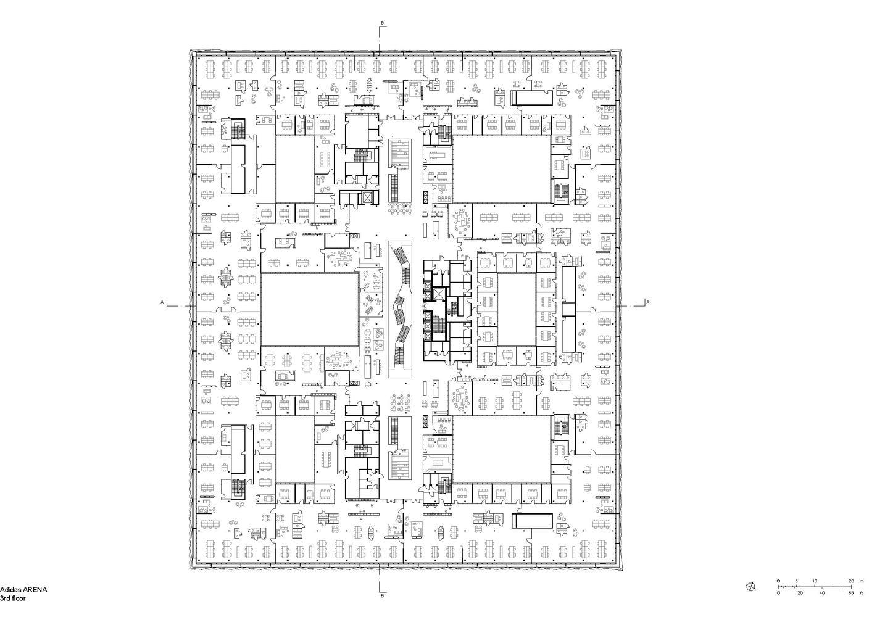 پلان ساختمان اداری آدیداس