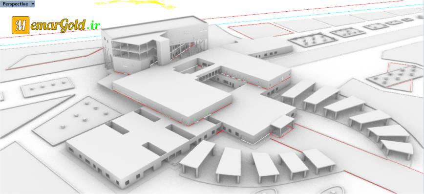 پلان بیمارستان عمومی سه طبقه
