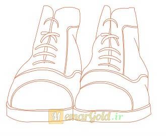 مبلمان اتوکد کفش مردانه