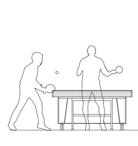 مبلمان اتوکد میز تنیس مخصوص نما