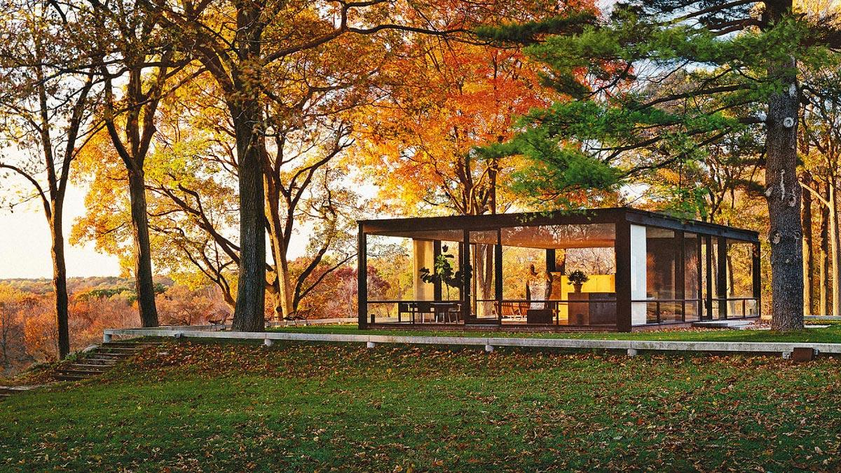 خانه شیشه ای اثر فلیپ جانسون