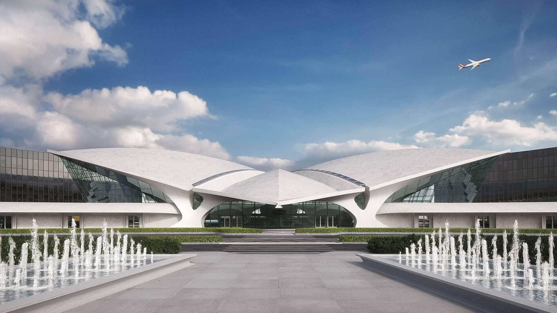 فرودگاه T.W.A از شاهکارهای معماری مدرن متاخر