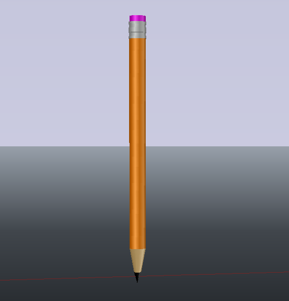 دانلود آبجکت سه بعدی مداد در اتوکد