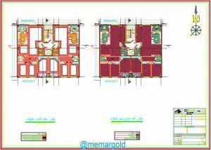 نقشه مورد تایید نظام مهندسی | سایت پلان نما برش DWG