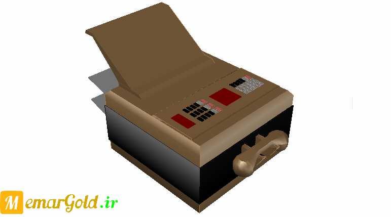 آبجکت سه بعدی پرینتر و تلفکس