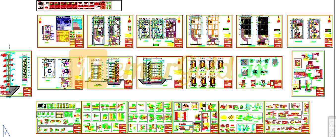 نقشه مسکونی با ابعاد 13*36 مورد تایید نظام مهندسی