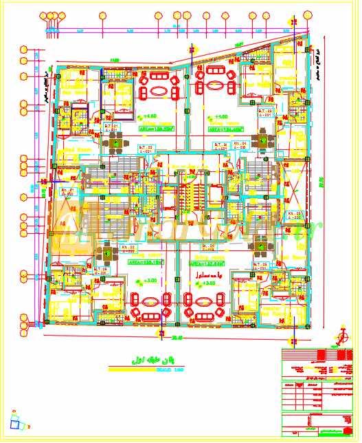 نقشه معماری مورد تایید نظام و شهرداری